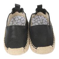 保税区发货/美国直邮 Robeez Ellie Espadrille 女童软底学步鞋 黑色 海外购