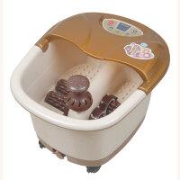 康豪 电动按摩足浴盆 足浴器 洗脚盆 四个电动按摩轮 一键启动 冲浪加热 温度调节 提手 移动轮