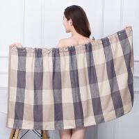 可穿浴巾加厚抹胸女性感吸水可爱韩版全棉百变浴裙 140x70cm
