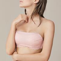 依曼丽性感隐形无肩带美背露肩蕾丝抹胸式防滑一字肩文胸