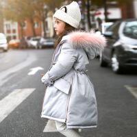 女童羽绒服中长款加厚中大童儿童装2018冬装新款韩版女孩反季