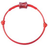 本命年朱砂手绳红绳转运珠男女情侣宝宝防惊吓皮绳蜡绳手链