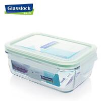 Glasslock三光云彩 钢化玻璃保鲜盒 三光云彩微波餐碗便当盒715ml