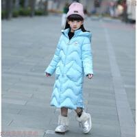 童装女童棉衣2018中长款冬装加厚中大童羽绒棉外套