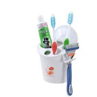 双庆家居创意吸盘多功能牙刷筒洗漱架剃须刀架牙刷架吸壁式牙刷盒 1927