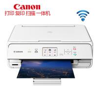 佳能/Canon TS5080无线彩色喷墨照片打印机复印扫描一体机wifi五色照片打印家庭办公