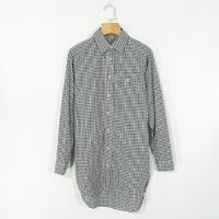 04044精品新款简约单排纽扣微宽松显瘦女中长款长袖衬衫