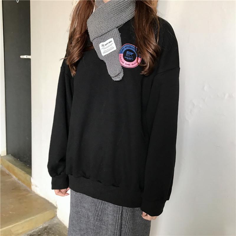 20180324123120021韩国INS同秋冬加绒ulzng字母宽松BF半高领套头卫衣女学生外套 发货周期:一般在付款后2-90天左右发货,具体发货时间请以与客服协商的时间为准