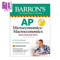 【中商原版】巴朗AP微观经济学/宏观经济学 第6版 英文原版 Barron's AP Microeconomics/M