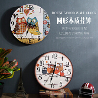 复古创意餐厅奶茶店墙上装饰品挂钟家居客厅墙壁挂件钟表时钟