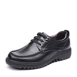 Teenmix/天美意2017秋专柜同款油蜡牛皮舒适休闲系带鞋男单鞋95519CM7