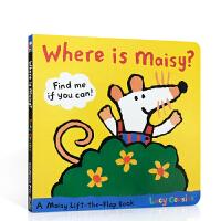 【全店300减100】英文原版儿童绘本 Where is Maisy ?小鼠波波 学龄前儿童启蒙英语读物 儿童纸板翻翻书