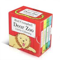 英文原版Dear Zoo Little Library亲爱的动物园小小图书馆4册套装Rod Campbell低幼儿童启
