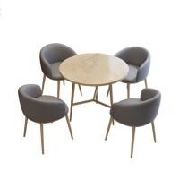 美立居工坊桌椅组合MLJ-ZY23一桌四椅(布绒)