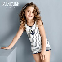 范德安儿童泳衣 连体裙式平角宝宝游泳衣女童大中童防晒泳装可爱