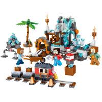跨境群隆将牌神安东尼亚水晶矿场拼装积木儿童早教益智玩具0536
