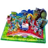 植物大战僵尸3d立体拼插拼图积木游戏2全套纸质儿童玩具定制礼物送情侣生日礼物