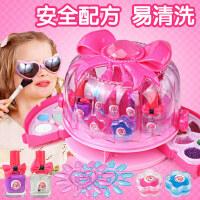 儿童指甲油礼物化妆玩具公主化妆品套装彩妆盒小6无毒女孩4岁无味