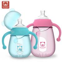 硅胶套宽口径带手柄宝宝用品 婴儿玻璃奶瓶耐摔