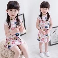 女童旗袍夏装短袖裙子儿童唐装中式童装小旗袍女宝宝中国风旗袍裙