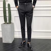 男英伦长裤男修身小脚休闲裤商务绅士小西裤男裤子