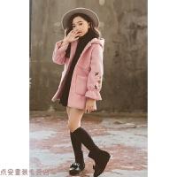 冬季女童新款毛呢大衣中大童加厚呢子外套女孩韩版洋气冬装公主小学生秋冬新款