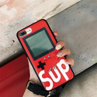 抖音怀旧游戏机手机壳X苹果7plus俄罗斯方块iPhone8网红i6潮牌减压创意6s复古保护套七代i 6代4.7 红色
