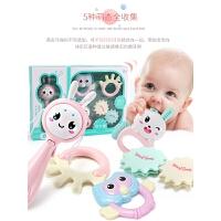 玩具软可咬摇铃男孩宝宝玩具0-1岁抓握训练玩具