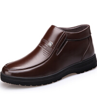 CUM 潮牌冬季新款男鞋羊毛内里 加绒保暖皮鞋男商务休闲男士棉鞋