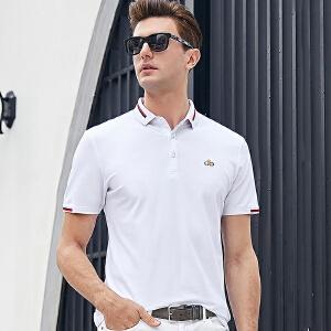 男装2019夏季商务休闲青年男式短袖T恤翻领纯棉男T恤POLO衫