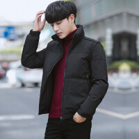 2018冬季新款男士羽绒服韩版修身青年休闲外套短款保暖立领男装潮