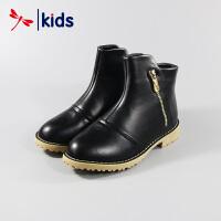 【2件3折到手价:41.7元】红蜻蜓童鞋女童中大童秋冬款棉靴高帮马丁靴