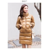 棉袄女羽绒套装韩版时尚秋冬棉衣短裙两件套 X
