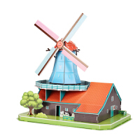 3d立体拼图 荷兰风车大风车手工diy拼装儿童玩具模型