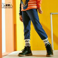 【任选专区3件149元】儿童加绒裤子秋季男童保暖2021款长裤洋气韩版