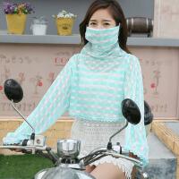 夏季防晒披肩丝巾围巾女开车骑车防晒衣蕾丝防紫外线护颈口罩