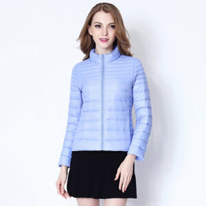 yaloo/雅鹿羽绒服女短款 韩版轻型立领女装潮 轻薄款修身保暖外套