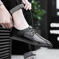 潮鞋韩版潮流英伦百搭透气单鞋男鞋子休闲鞋夏季男士皮鞋软皮