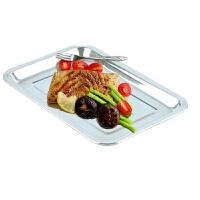 烧烤用品 食物托盘 食品盘子 方盘烧烤用具 户外加厚不锈钢盘