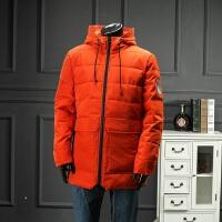 欧洲站 新款冬装厚棉衣连帽中长款棉袄青年保暖抗寒外套