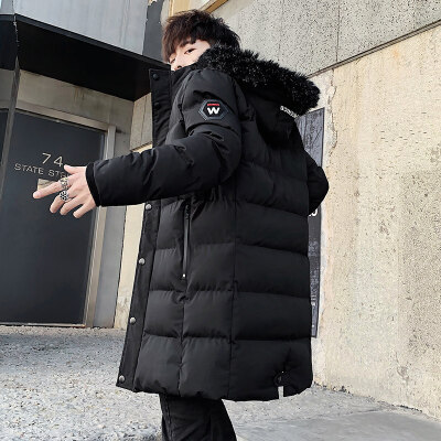 棉衣男冬季中长款羽绒袄冬装潮流宽松加肥加大码胖子男士外套   多码 多色 可选,加厚 防风 保暖试穿