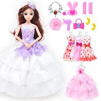 配件娃娃套装女孩玩具儿童新款公主婚纱换装大礼盒过家家