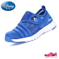 迪士尼儿童鞋米奇夏季儿童运动鞋真皮网面网鞋男童鞋女童鞋毛毛虫