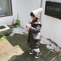 女童中长款宝宝羽绒服2018冬款韩版儿童中小童洋气白鸭绒防风外套
