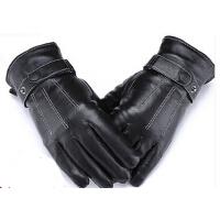 男士骑车开车手套冬季分指薄真皮手套皮手套加厚保暖皮手套