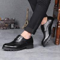 DAZED CONFUSED男鞋2017新款商务正装皮鞋青年结婚鞋英伦风内增高潮流男士休闲