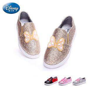 迪士尼童鞋2017新款女童鞋中小童休闲鞋板鞋户外旅游鞋潮鞋春 DS1986