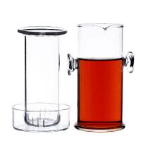 230ML耐热玻璃杯加厚红茶杯双耳玻璃泡茶器过滤带盖功夫茶具套装