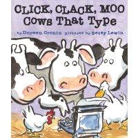 Click, Clack, Moo: Cows That Type 英文原版儿童书 咔嗒、咔嗒、哞 (2001年凯迪克