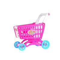 儿童过家家玩具套装大号超市购物车玩具手推车男孩女孩切水果玩具 中号购物车空车 红色 加厚36厘米